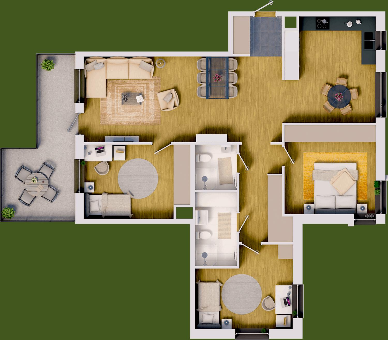 PicMyPlace-Grundrisszeichnung 3D plan